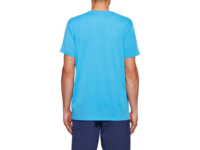 Back view of JSY CB SS TEE, DOLPHIN BLUE