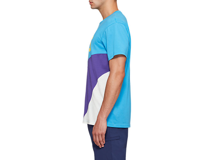 Side view of JSY CB SS TEE, DOLPHIN BLUE