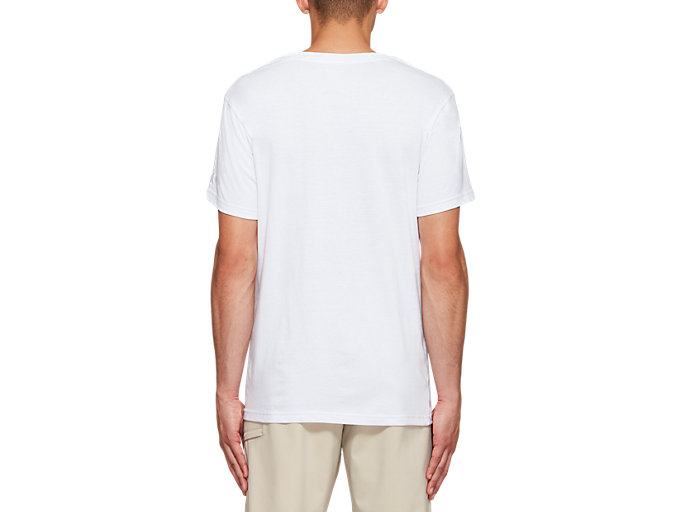 Back view of JSY SPIRAL BUBBLE SS T, BRILLIANT WHITE