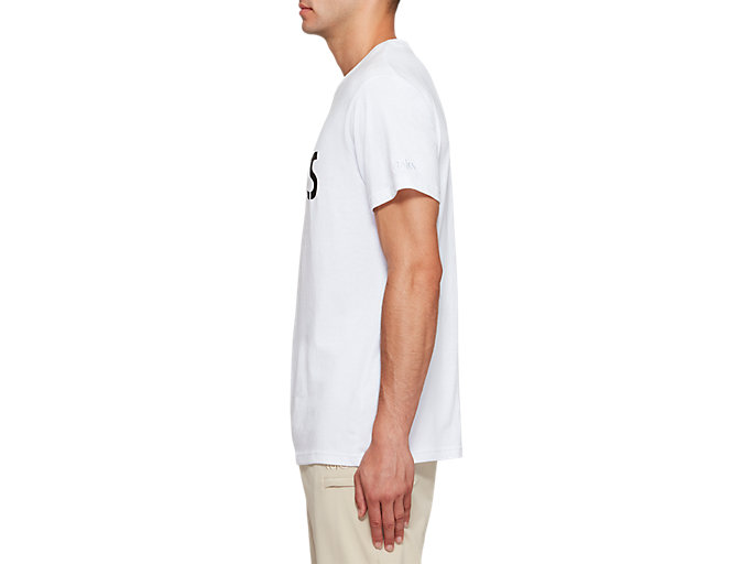 Side view of JSY SPIRAL BUBBLE SS T, BRILLIANT WHITE