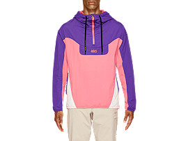Front Top view of Woven Color Block Anorak Jacket