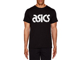 Front Top view of JSY BL SS TEE, PERFORMANCE BLACK