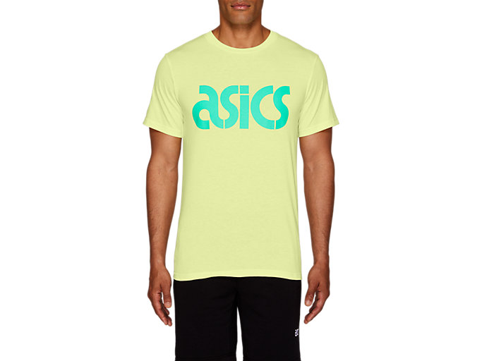Front Top view of JSY BL SS TEE, HUDDLE YELLOW