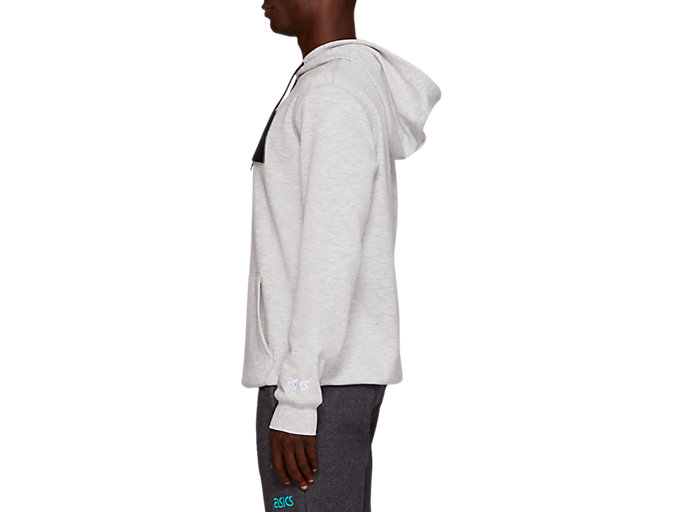 Side view of TF M PO FRENCH TERRY HOODIE, MID GREY HEATHER