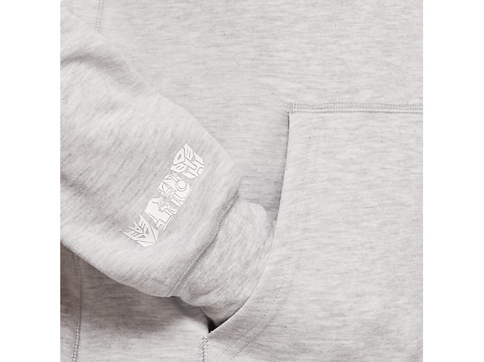 Alternative image view of TF M PO FRENCH TERRY HOODIE, MID GREY HEATHER