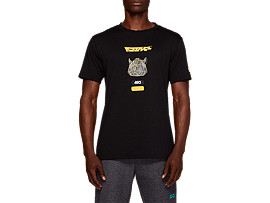 Front Top view of TF M GRAPHIC SS TEE 2, PERFORMANCE BLACK