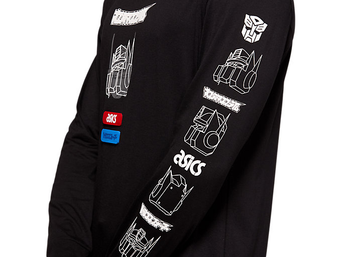 Alternative image view of TF M GRAPHIC LS TEE, PERFORMANCE BLACK