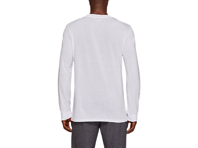 Back view of TF M GRAPHIC LS TEE, REAL WHITE