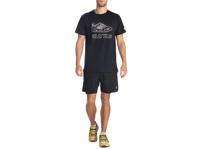 Front Top view of GEL-LYTE III SS TEE 2, PERFORMANCE BLACK