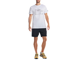 Front Top view of GEL-LYTE III SS TEE 2, REAL WHITE
