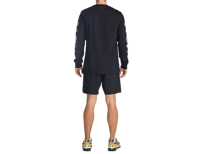 Back view of GEL-LYTE III LS TEE, PERFORMANCE BLACK