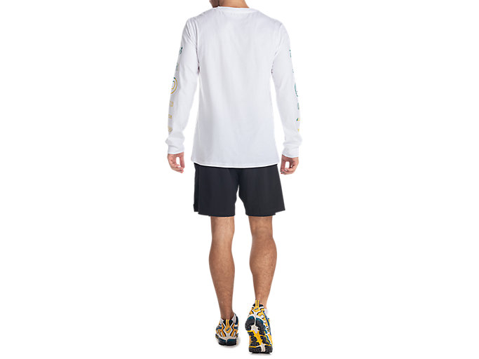 Back view of GEL-LYTE III LS TEE, REAL WHITE