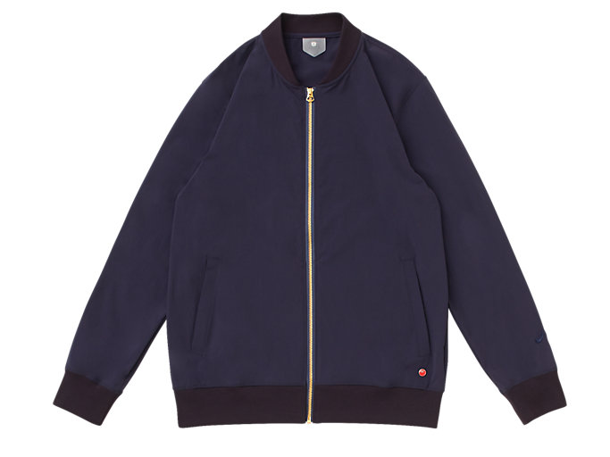 Front Top view of MJ STRETCH WOVEN JACKET, PEACOAT
