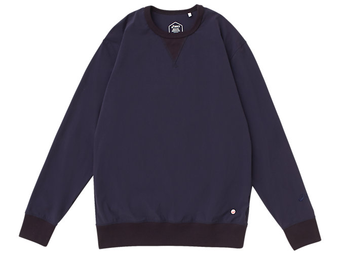 Front Top view of MJ STRETCH WOVEN LS TOP, PEACOAT