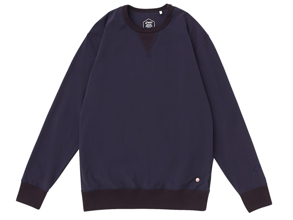 MJ STRETCH WOVEN LS TOP