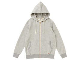 Front Top view of MJ KNIT HOODY FZ JACKET, PIEDMONT GREY HEATHER