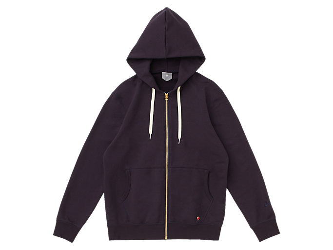 Front Top view of MJ KNIT HOODY FZ JACKET, PEACOAT
