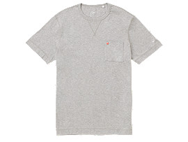 Front Top view of MJ KNIT SS TOP, PIEDMONT GREY HEATHER
