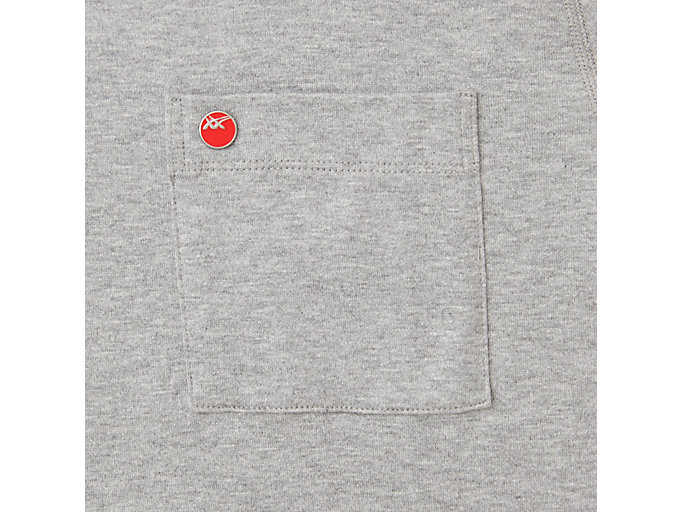 Alternative image view of MJ KNIT SS TOP, PIEDMONT GREY HEATHER