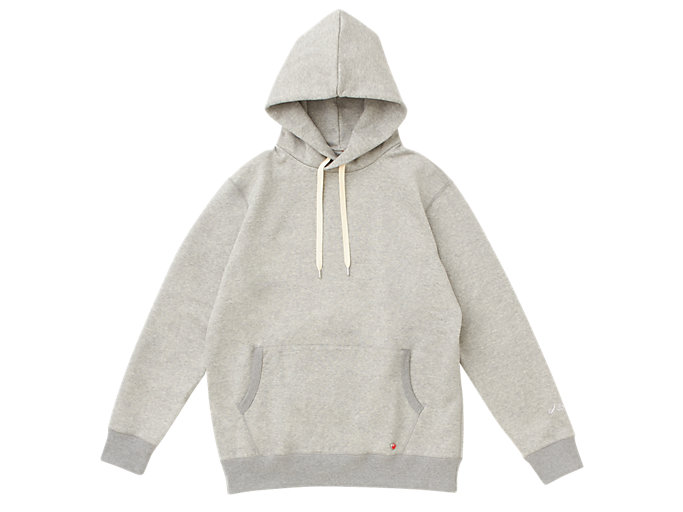 Front Top view of MJ KNIT HOODY PULLOVER, PIEDMONT GREY HEATHER