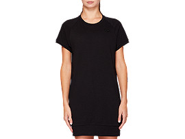 Front Top view of French Terry One Point Short Sleeve Dress