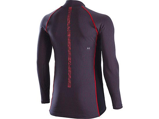 ウィンジョブハイネックロングスリーブシャツ, SILVER/DARK GREY