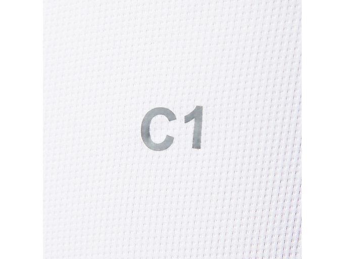 Alternative image view of ウィンジョブ®ハーフスリーブクールトップ, Bホワイト