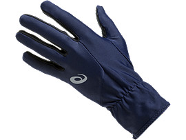 Front Top view of RUNNING GLOVES, PEACOAT