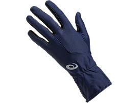 Front Top view of W RUNNING GLOVES, PEACOAT