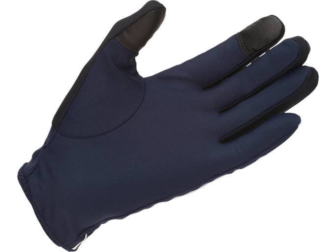 Back view of LITE- SHOW GLOVES, PEACOAT/PERFORMANCE BLACK