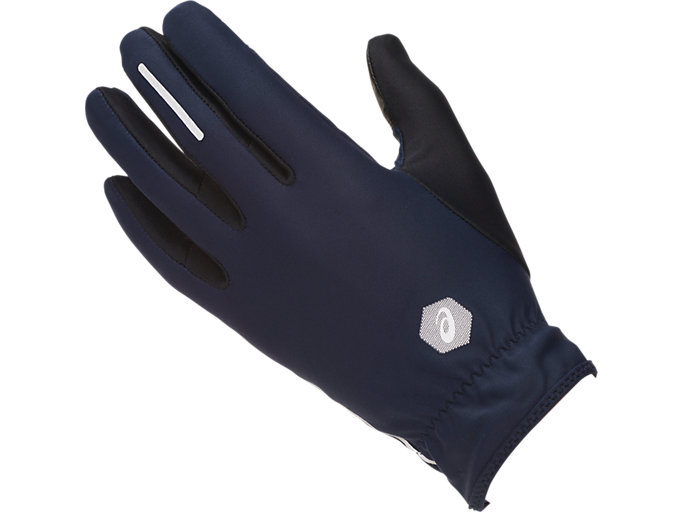 Front Top view of LITE- SHOW GLOVES, PEACOAT/PERFORMANCE BLACK