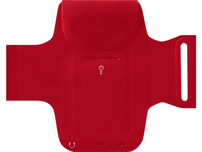 Back view of ARM POUCH PHONE, CLASSIC RED