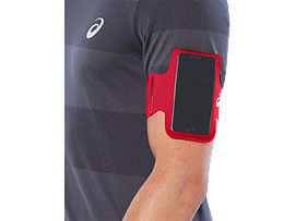 Front Top view of ARM POUCH PHONE, CLASSIC RED