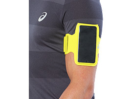 Front Top view of ARM POUCH PHONE, LEMON SPARK