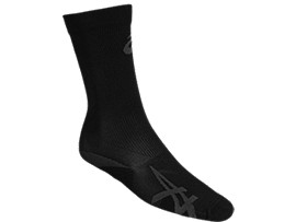 Front Top view of COMPRESSION SOCK, PERFORMANCE BLACK