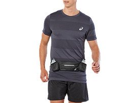 Front Top view of RUNNERS BOTTLEBELT, PERFORMANCE BLACK
