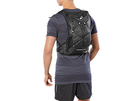 Front Top view of LIGHT WEIGHT RUNNING BACKPACK, PERFORMANCE BLACK
