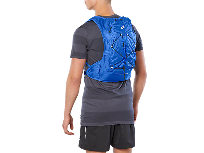 Front Top view of LIGHT WEIGHT RUNNING BACKPACK, ILLUSION BLUE