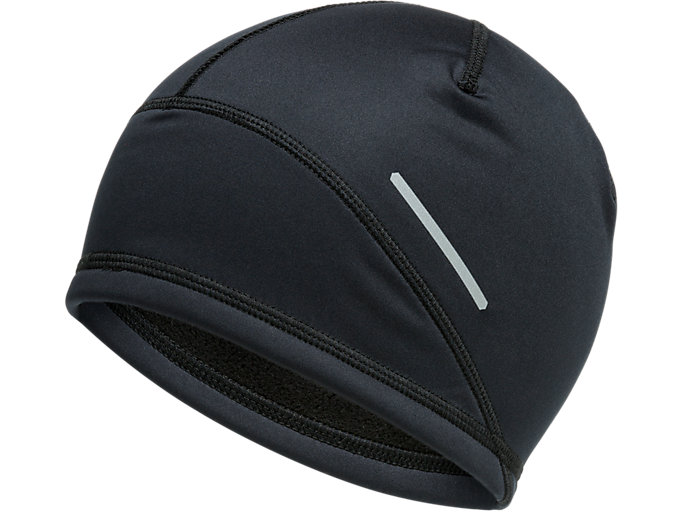 Front Top view of LITE-SHOW™ BEANIE, PERFORMANCE BLACK