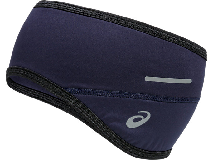 Front Top view of LITE SHOW EAR COVER, INDIGO BLUE
