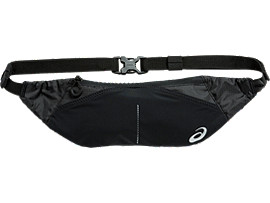 Front Top view of WAIST POUCH M, PERFORMANCE BLACK