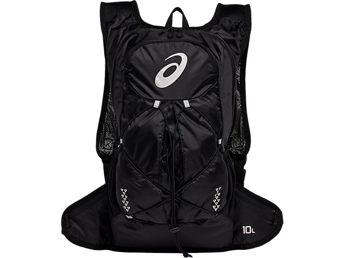 Front Top view of LIGHTWEIGHT RUNNING BACKPACK, PERFORMANCE BLACK