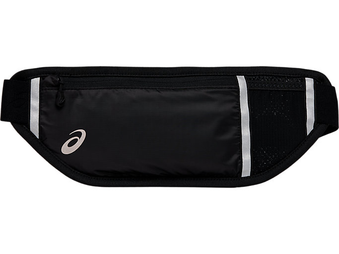 Front Top view of RUN WAIST POUCH, performance black