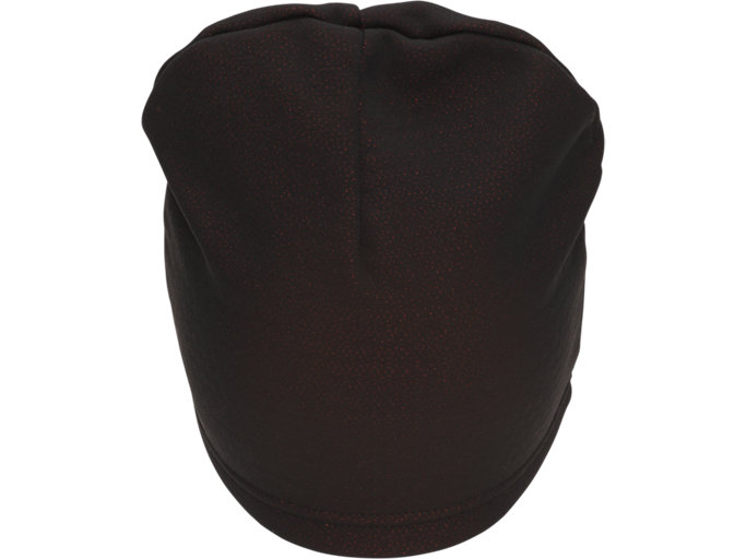 Back view of THERMAL BEANIE, PERFORMANCE BLACK