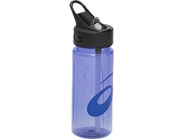 Front Top view of WATER BOTTLE, ASICS BLUE