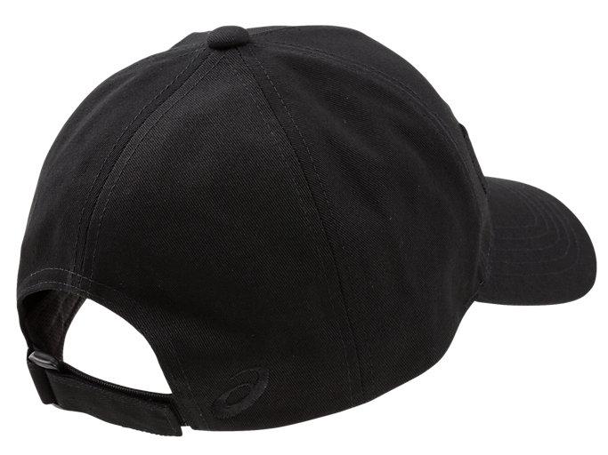 Back view of キャップ, ブラック