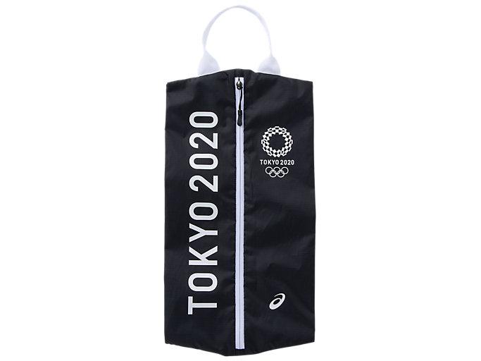 Front Top view of シューズケース(東京2020オリンピックエンブレム), ブラック