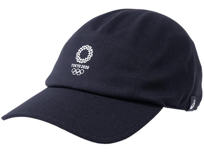 Front Top view of キャップ(東京2020オリンピックエンブレム), ブラック