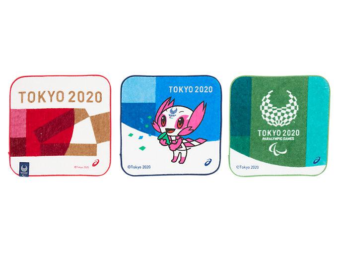 Front Top view of 3Pミニタオル(東京2020パラリンピックマスコット), ルック