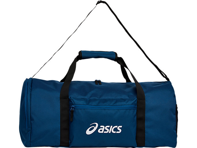 Front Top view of SPORT LOGO DUFFEL MEDIUM, mako blue